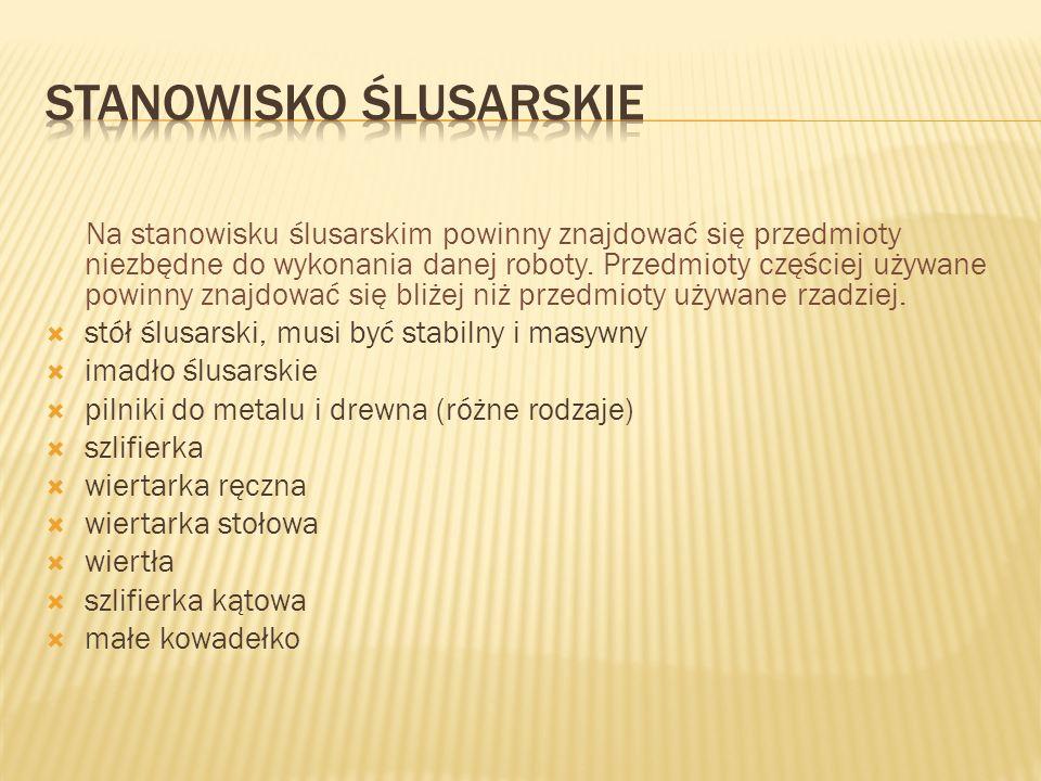 STANOWISKO ŚLUSARSKIE