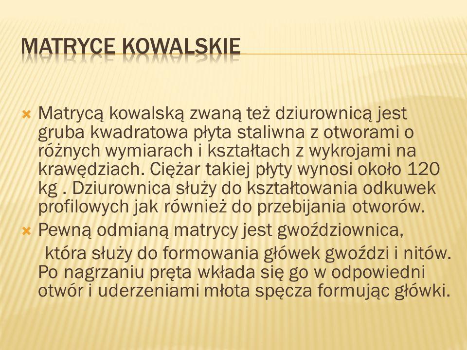 MATRYCE KOWALSKIE