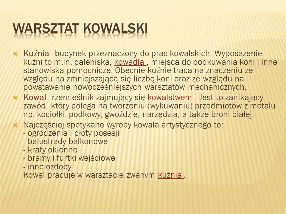 WARSZTAT KOWALSKI