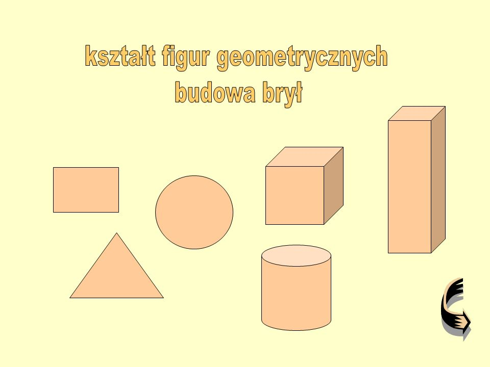 kształt figur geometrycznych