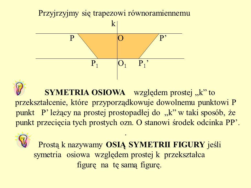Przyjrzyjmy się trapezowi równoramiennemu k