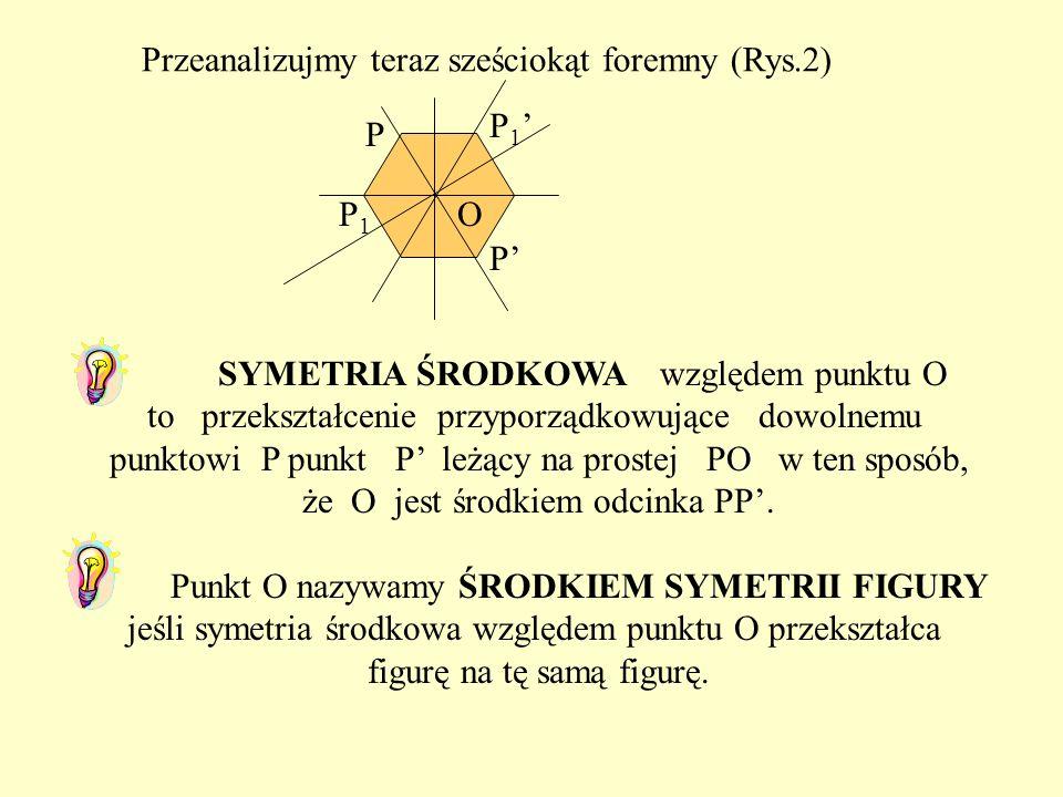 Przeanalizujmy teraz sześciokąt foremny (Rys.2)