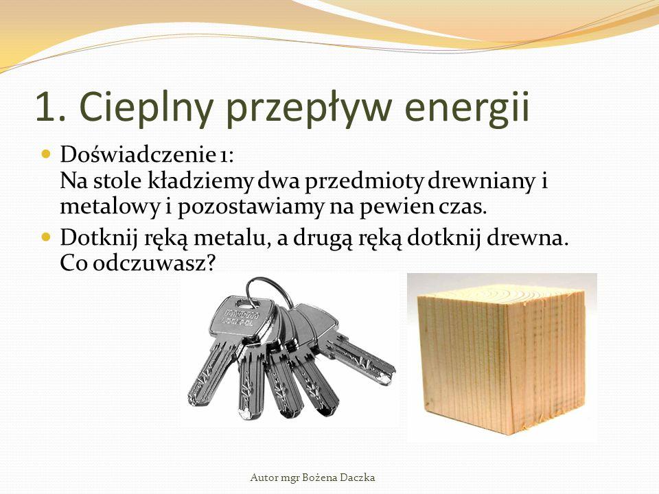 1. Cieplny przepływ energii