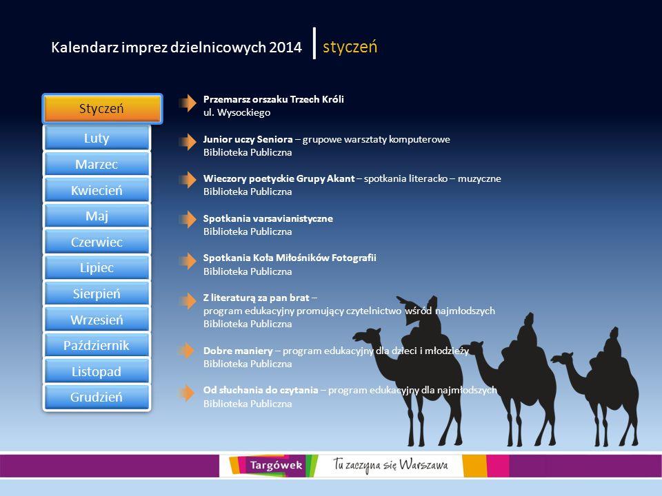 Kalendarz imprez dzielnicowych 2014 |styczeń