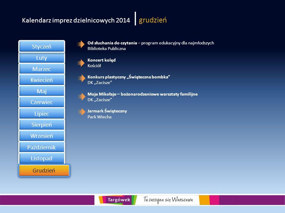 Kalendarz imprez dzielnicowych 2014 |grudzień