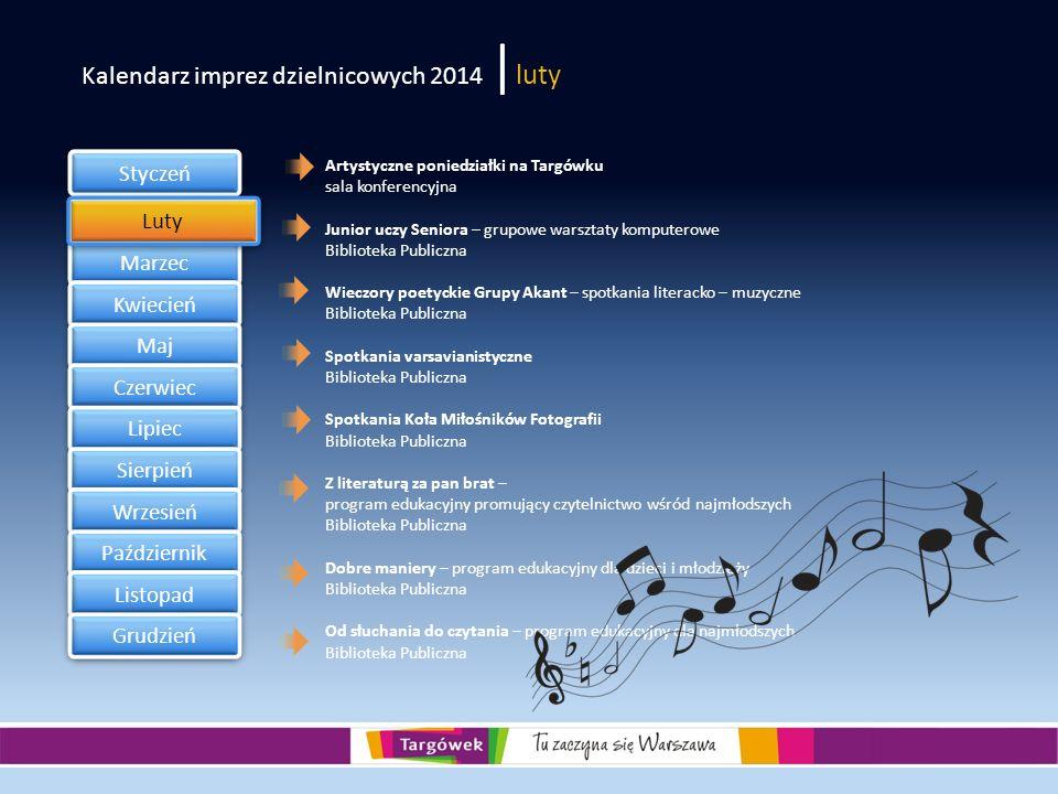 Kalendarz imprez dzielnicowych 2014 |luty