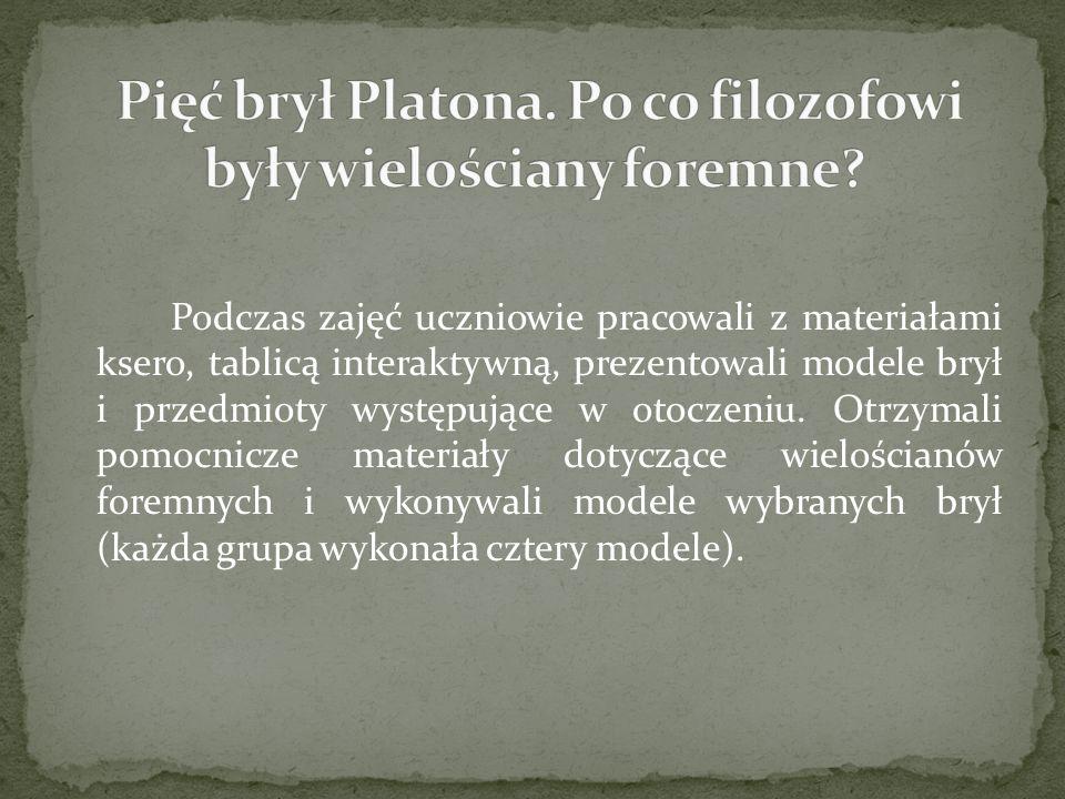 Pięć brył Platona. Po co filozofowi były wielościany foremne