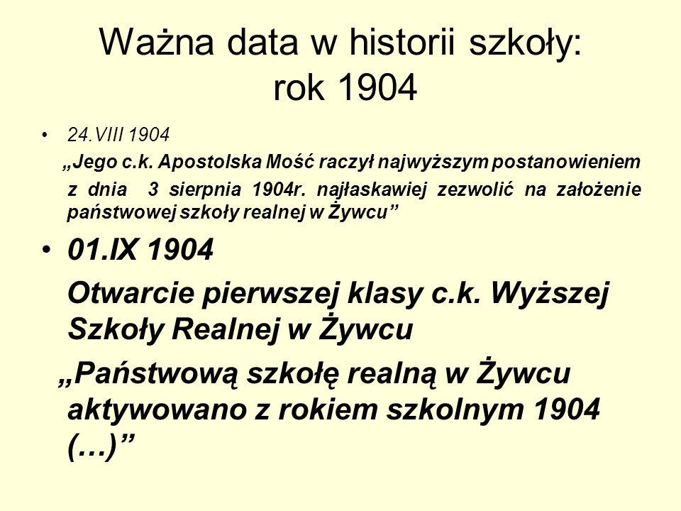 Ważna data w historii szkoły: rok 1904
