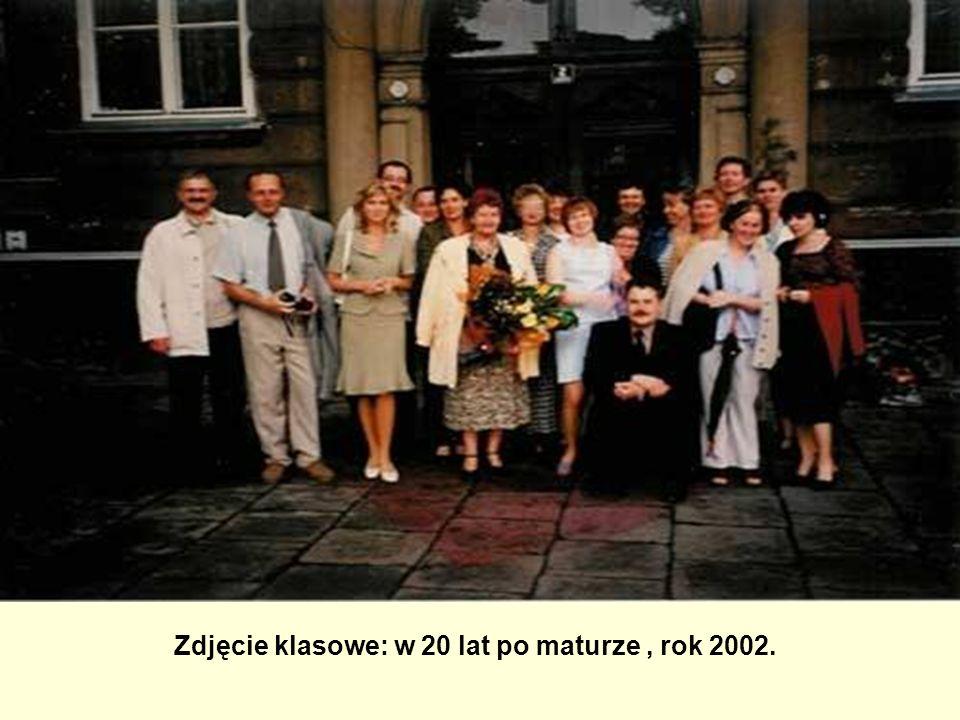 Zdjęcie klasowe: w 20 lat po maturze , rok 2002.