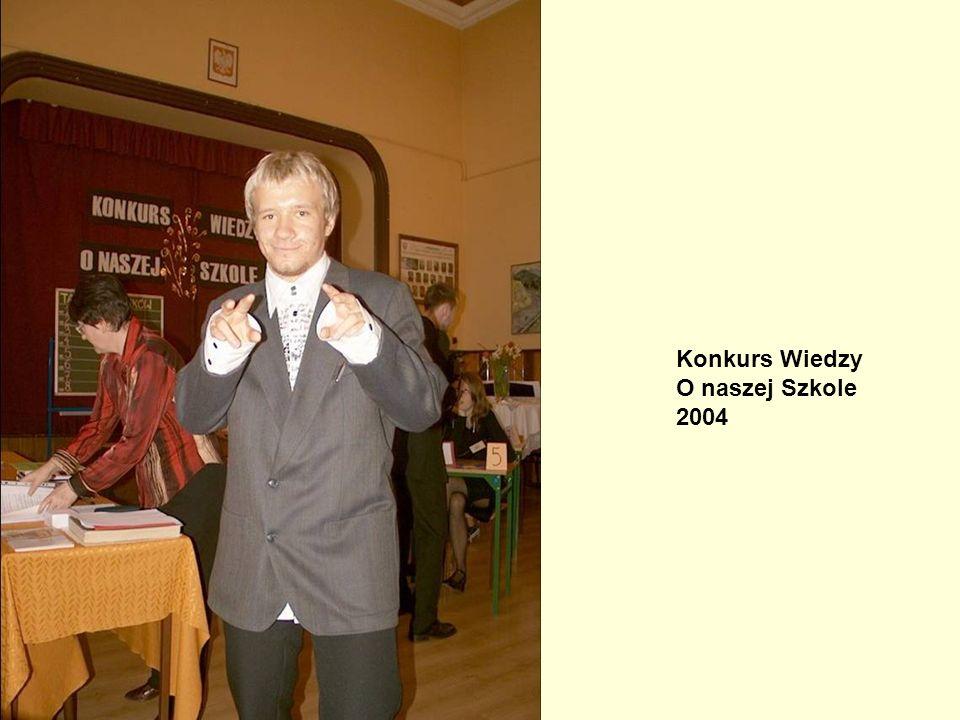 Konkurs Wiedzy O naszej Szkole 2004 Konkurs Wiedzy o Naszej Szkole, 2004