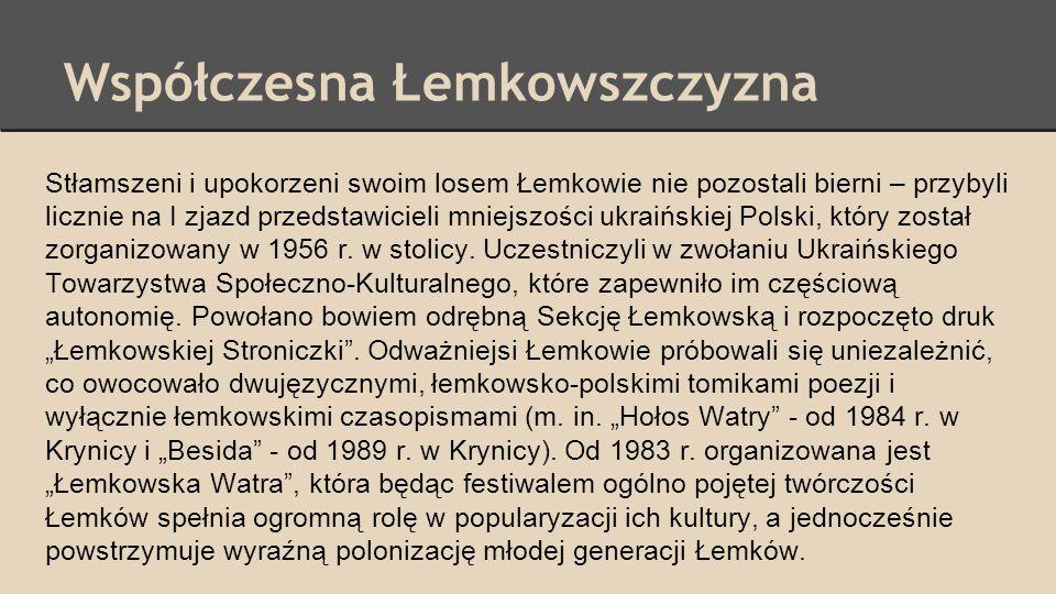 Współczesna Łemkowszczyzna