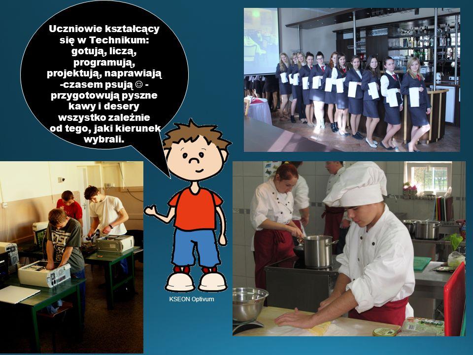 Uczniowie kształcący się w Technikum: gotują, liczą, programują, projektują, naprawiają -czasem psują  - przygotowują pyszne kawy i desery wszystko zależnie od tego, jaki kierunek wybrali.