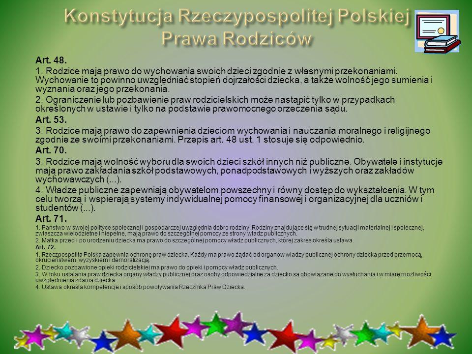 Konstytucja Rzeczypospolitej Polskiej Prawa Rodziców