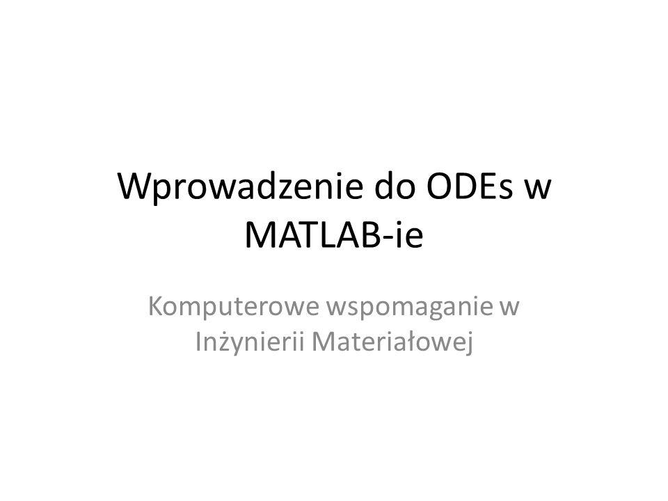 Wprowadzenie do ODEs w MATLAB-ie