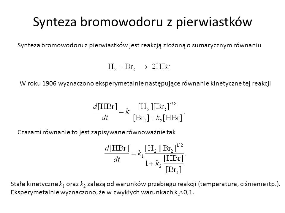 Synteza bromowodoru z pierwiastków