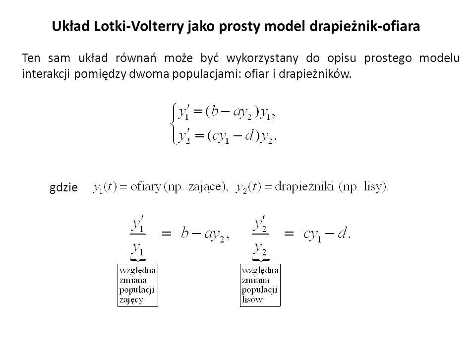 Układ Lotki-Volterry jako prosty model drapieżnik-ofiara