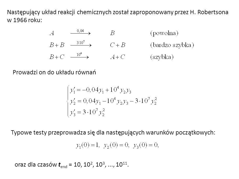 Następujący układ reakcji chemicznych został zaproponowany przez H