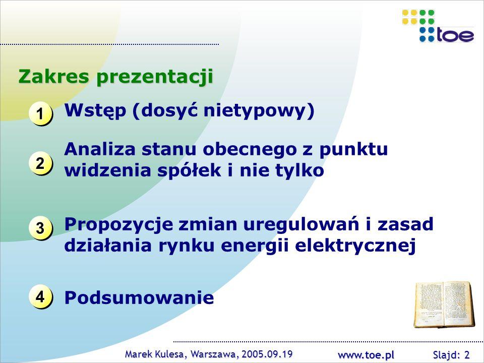 Zakres prezentacji Wstęp (dosyć nietypowy)