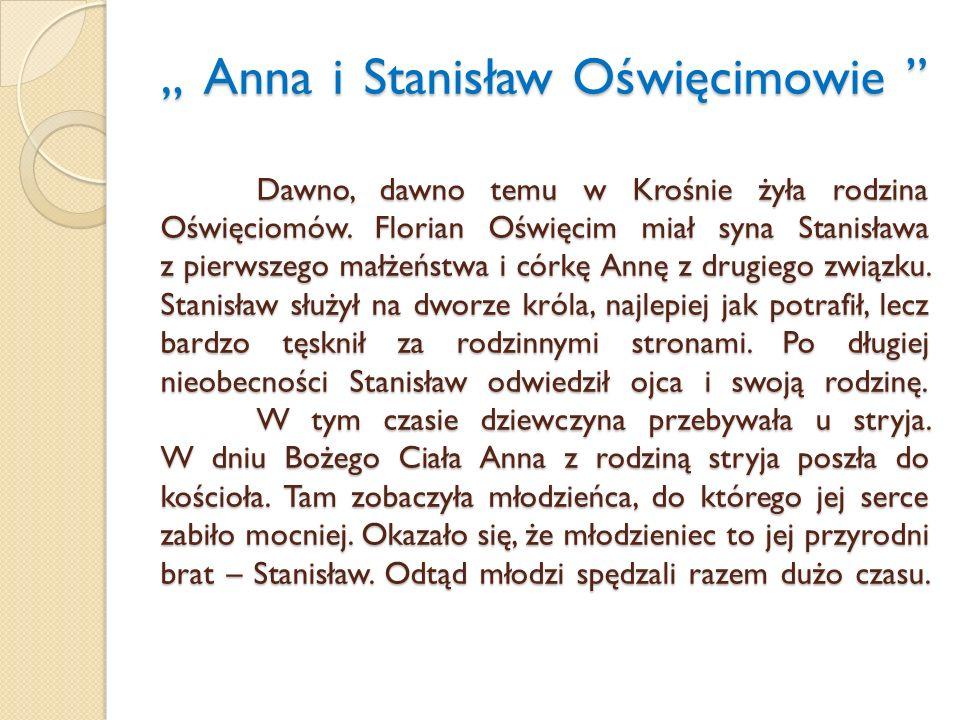 """"""" Anna i Stanisław Oświęcimowie"""