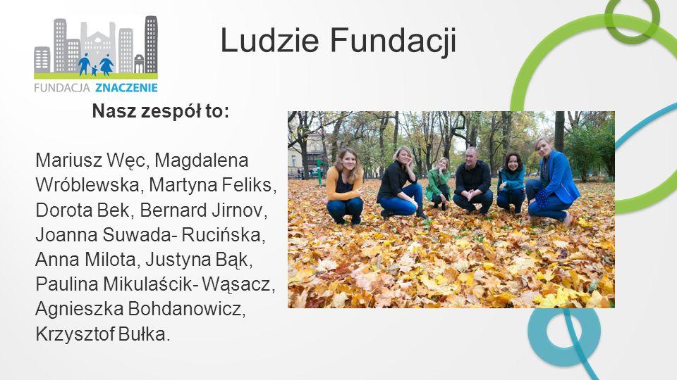 Ludzie Fundacji Nasz zespół to: Mariusz Węc, Magdalena