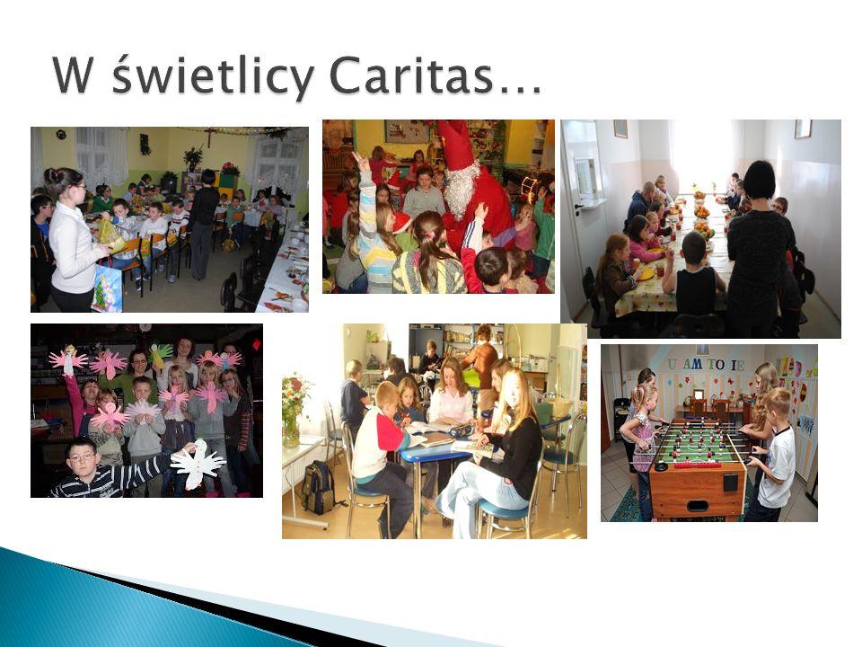 W świetlicy Caritas…