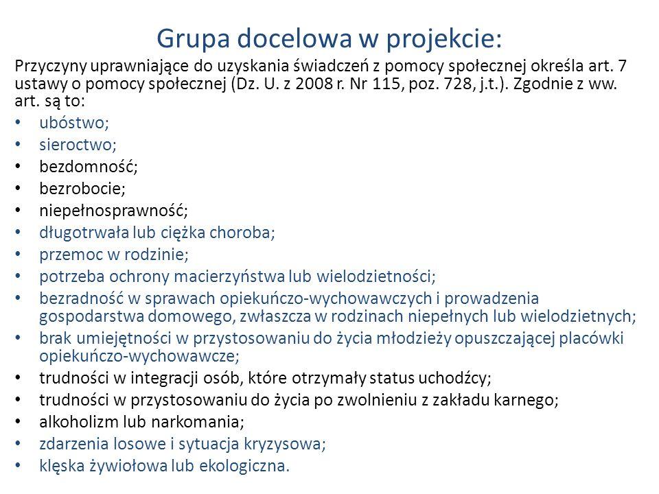 Grupa docelowa w projekcie: