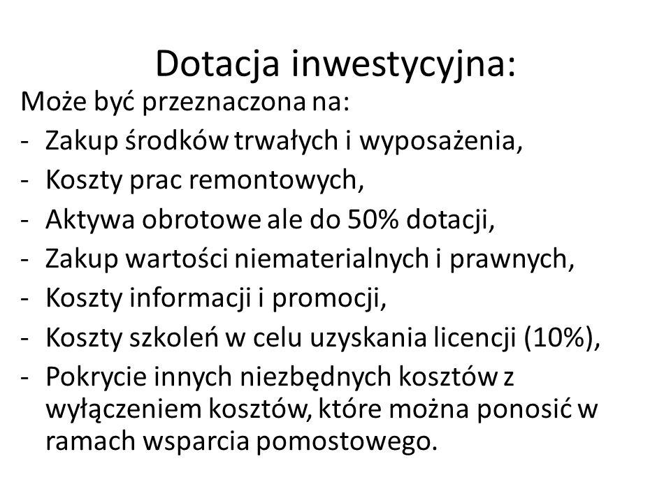 Dotacja inwestycyjna: