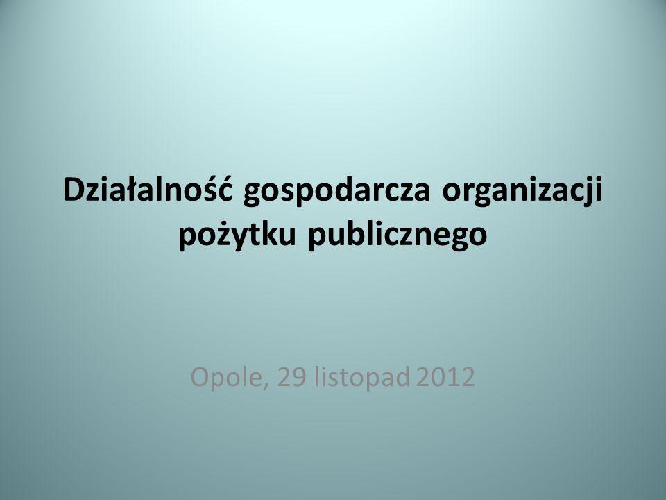 Działalność gospodarcza organizacji pożytku publicznego