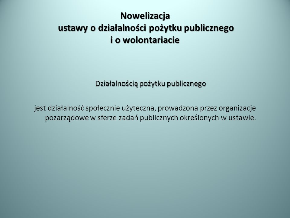 Działalnością pożytku publicznego