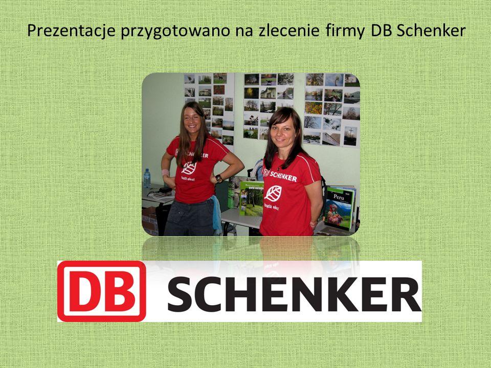 Prezentacje przygotowano na zlecenie firmy DB Schenker