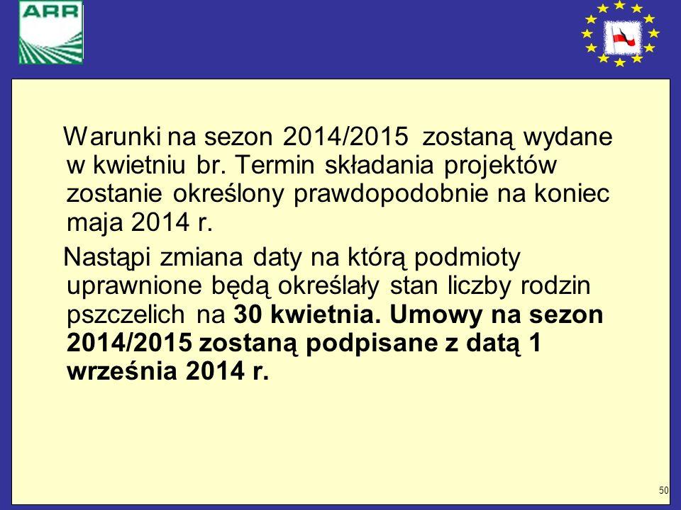 Warunki na sezon 2014/2015 zostaną wydane w kwietniu br