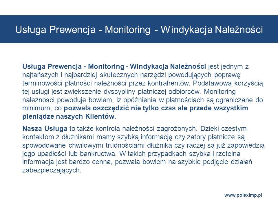 Usługa Prewencja - Monitoring - Windykacja Należności
