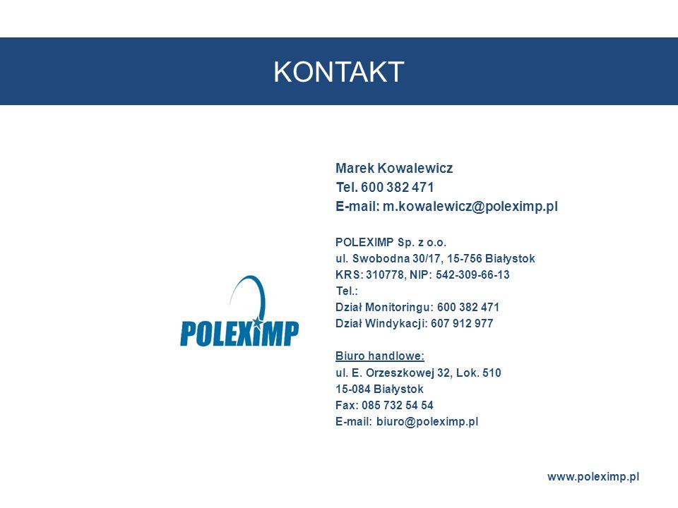 KONTAKT Marek Kowalewicz Tel. 600 382 471