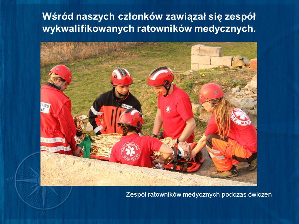 Wśród naszych członków zawiązał się zespół wykwalifikowanych ratowników medycznych.