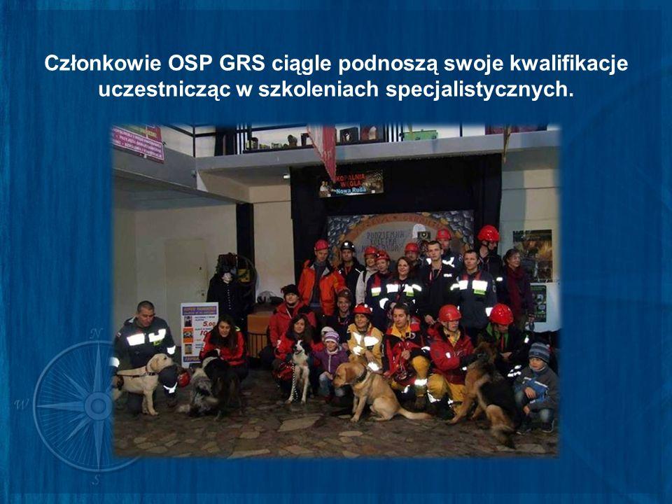 Członkowie OSP GRS ciągle podnoszą swoje kwalifikacje uczestnicząc w szkoleniach specjalistycznych.