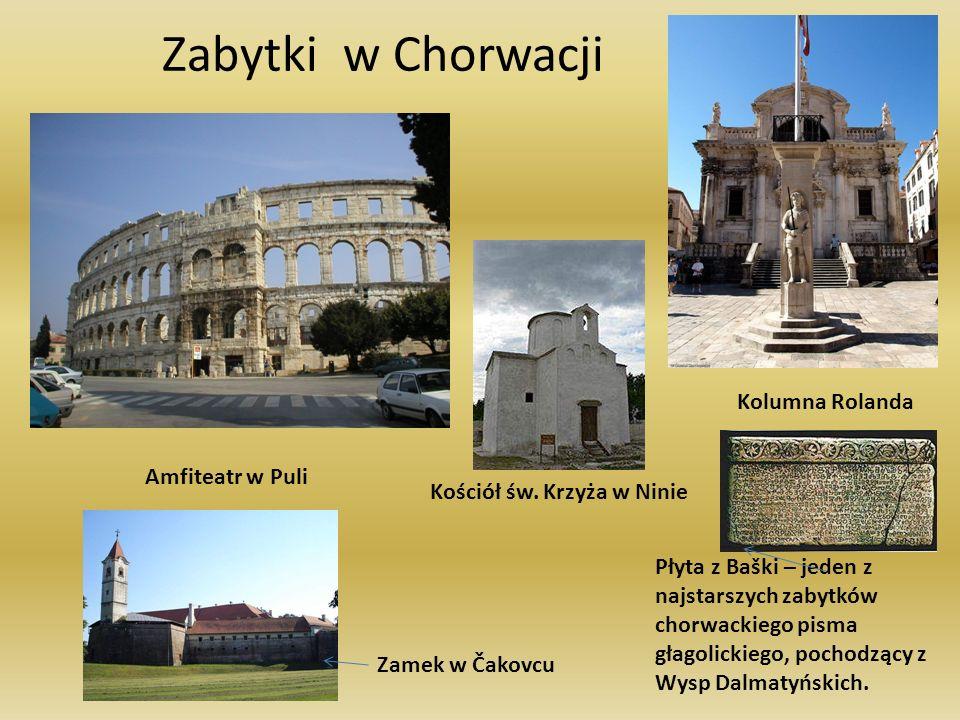 Zabytki w Chorwacji Kolumna Rolanda Amfiteatr w Puli