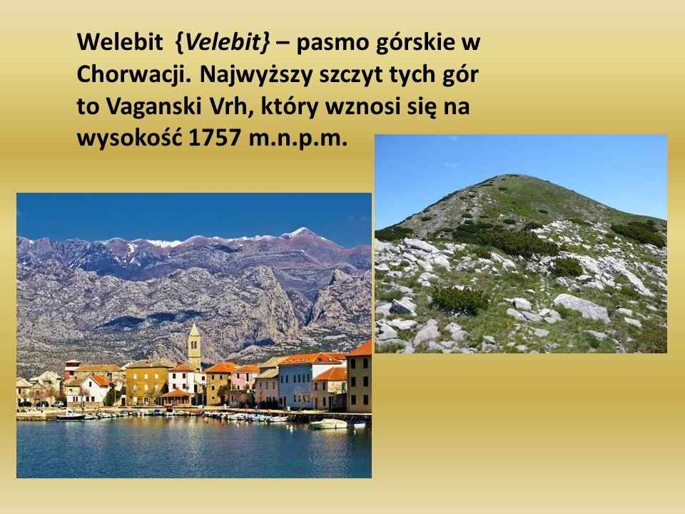 Welebit {Velebit} – pasmo górskie w Chorwacji