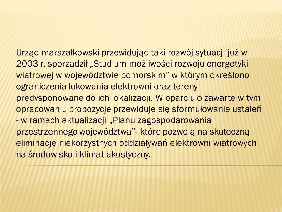 Urząd marszałkowski przewidując taki rozwój sytuacji już w 2003 r