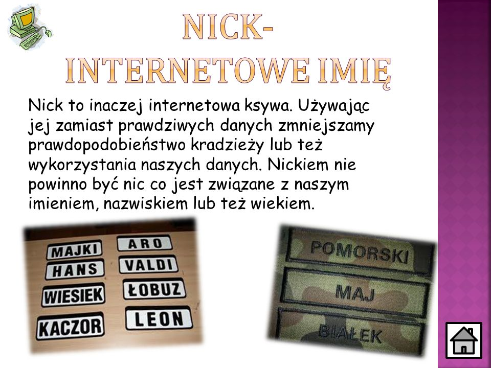 Nick- internetowe imię