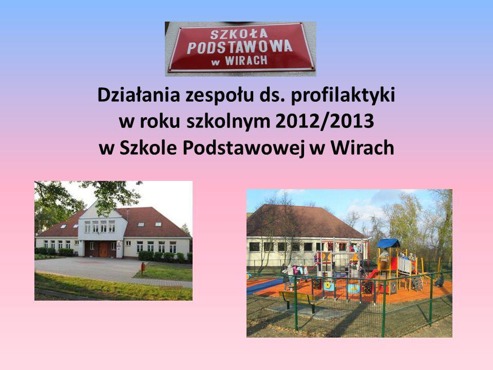 Działania zespołu ds. profilaktyki w roku szkolnym 2012/2013 w Szkole Podstawowej w Wirach