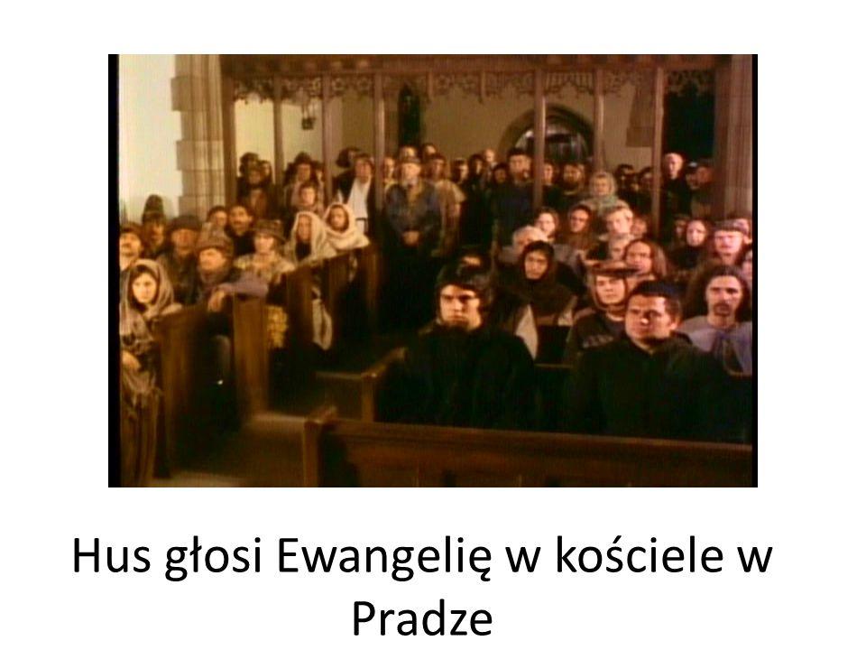 Hus głosi Ewangelię w kościele w Pradze