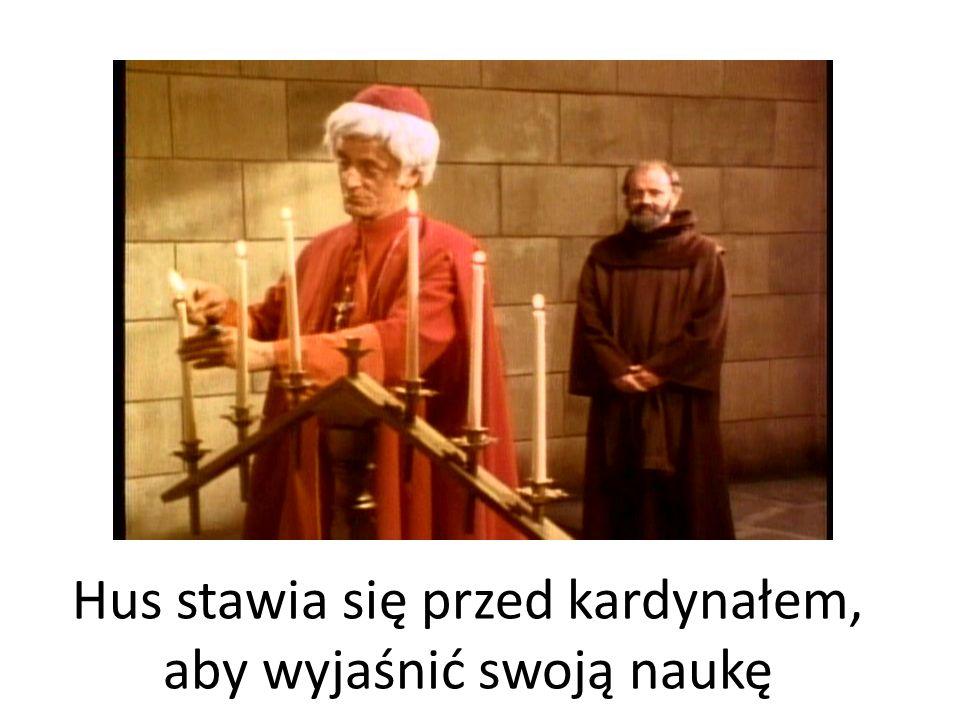 Hus stawia się przed kardynałem, aby wyjaśnić swoją naukę