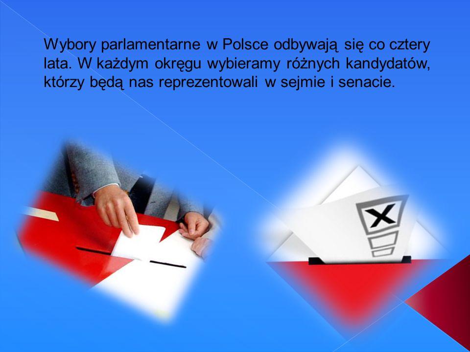 Wybory parlamentarne w Polsce odbywają się co cztery lata
