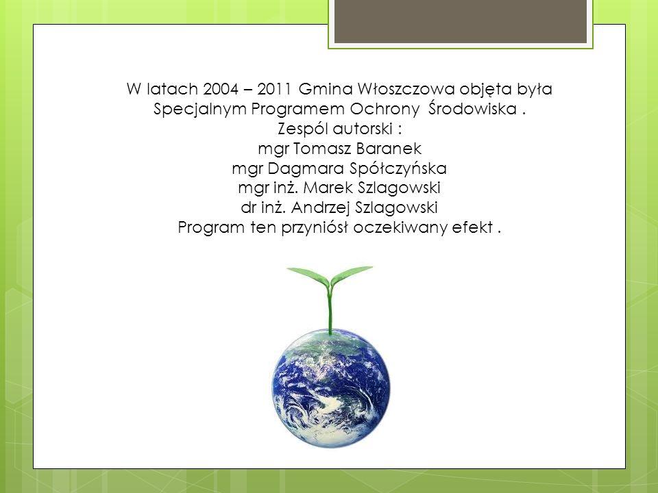 W latach 2004 – 2011 Gmina Włoszczowa objęta była