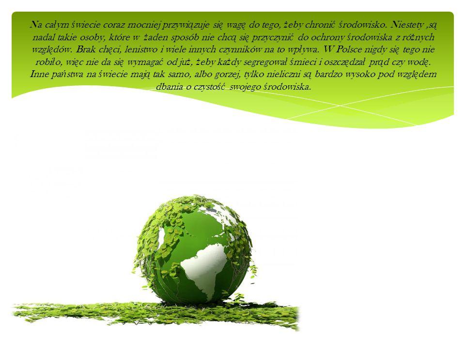 Na całym świecie coraz mocniej przywiązuje się wagę do tego, żeby chronić środowisko.