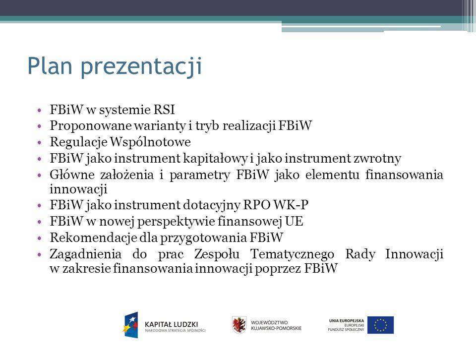 Plan prezentacji FBiW w systemie RSI