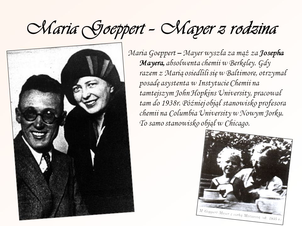 Maria Goeppert – Mayer z rodzina