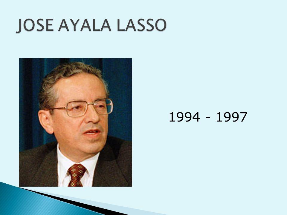 JOSE AYALA LASSO 1994 - 1997