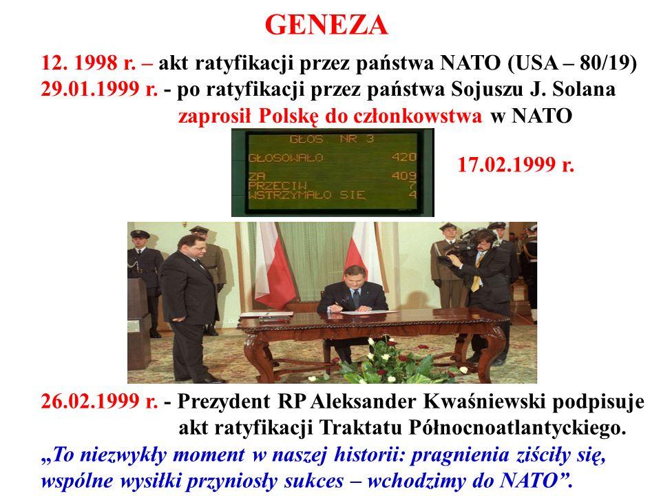 GENEZA 12. 1998 r. – akt ratyfikacji przez państwa NATO (USA – 80/19)