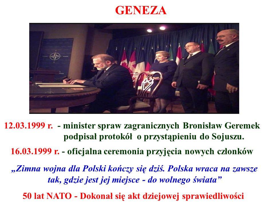 GENEZA 12.03.1999 r. - minister spraw zagranicznych Bronisław Geremek